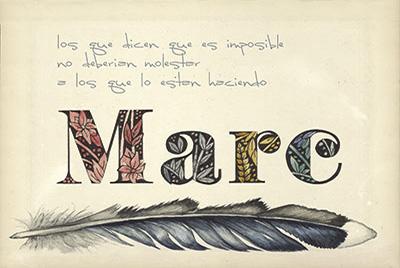 Caligrafía e ilustración y texto con mensaje