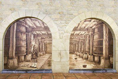 Mural Trampantojo sidreria Kupela