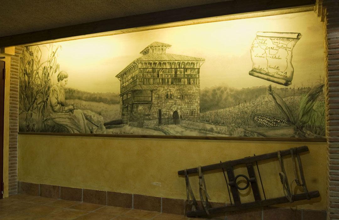 mural_torre_arraioz_restaurante_landibar